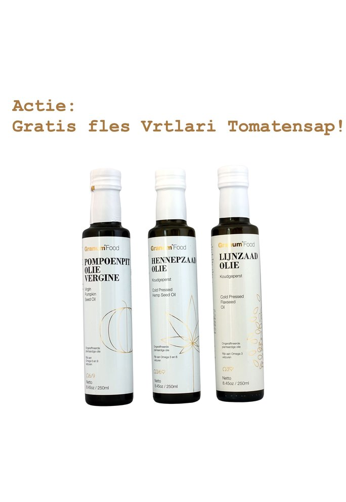 "Granum Servisch ""Granum Oliënpakket - Koud""  (3 flessen)"