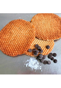Opstroopwafel Opstroopwafel - Chocolade / Zeezout