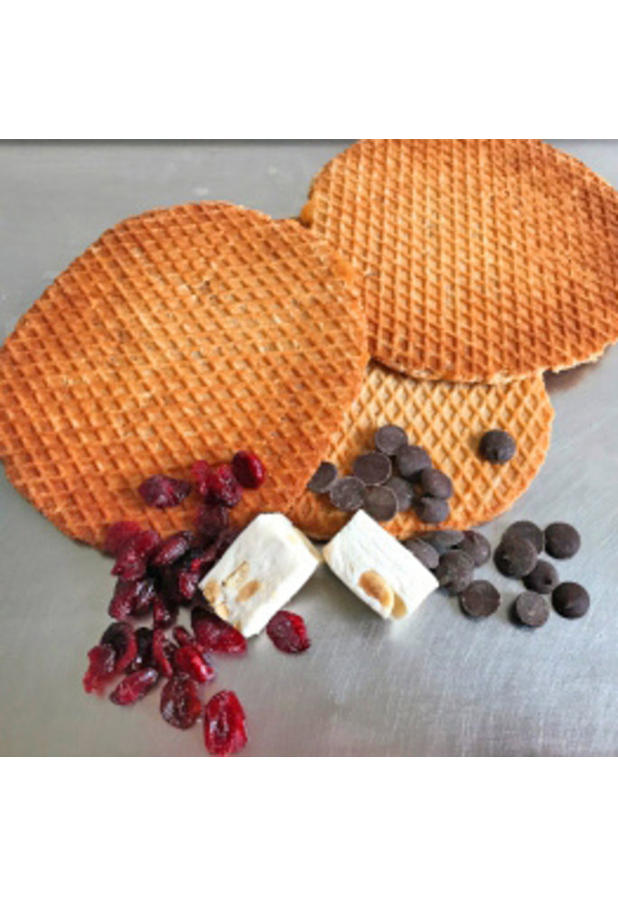 Opstroopwafel Opstroopwafel - Nougat / Cranberry / Chocolade
