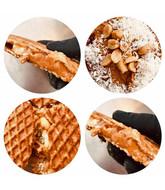 Opstroopwafel - Pindakaas / Zoute pinda's / Kokos