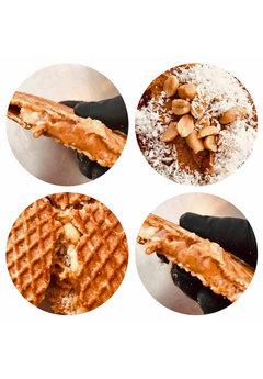 Opstroopwafel Opstroopwafel - Pindakaas / Zoute pinda's / Kokos
