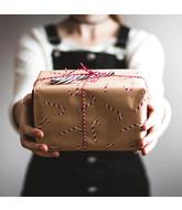 Cadeauverpakking met kaartje- Zeut