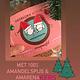 Opstroopwafel KerstOpstroopwafel-Amandelspijs / Amarena kersen