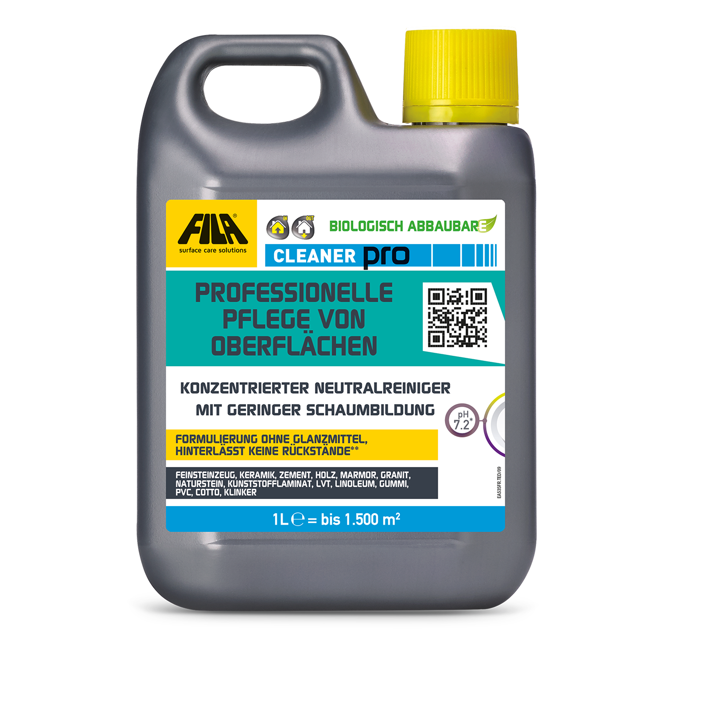 Fila Cleaner Pro - Unterhaltsreiniger - 1 Liter - rückstandsloser Natursteinreiniger