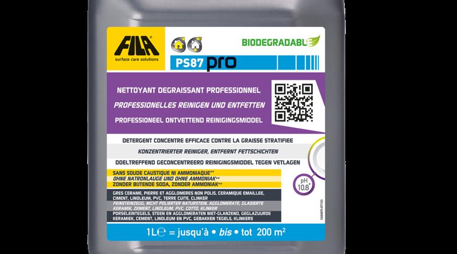 Fila PS87 Pro - Grundreiniger -  1 Liter - rückstandsloser Natursteinreiniger