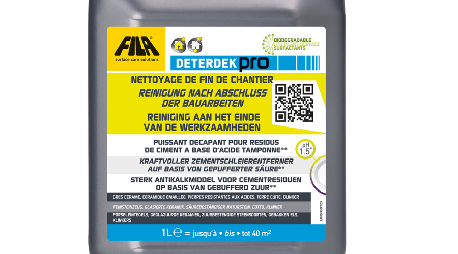 Fila Deterdek Pro - Grundreiniger - 1 Liter - rückstandsloser Natursteinreiniger