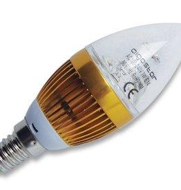 Aigostar LED kaars E14 3W 6500K transparant