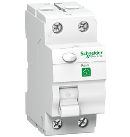 Schneider RESI9 differential switch 2P 25A 10mA A
