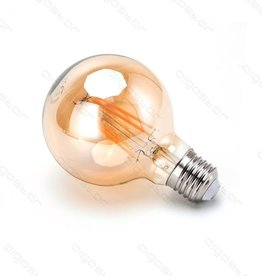 Aigostar LED Filament G80 E27 6W 2200K AMBER