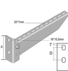 LedLightDirect Screwed wall bracket H = 139 B = 617