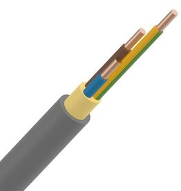 INSTALLATIEKABE 5G10mm² rol 50m XVB installatiekabel XLPE/PVC 1kV Cca s3d2a3 grijs