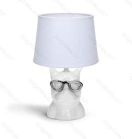 Aigostar Table lamp Bulldog ceramic E14 White