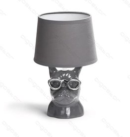 Aigostar Table lamp Bulldog ceramic E14 Gray