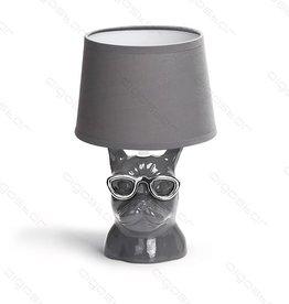 Aigostar Tafellamp Bulldog keramiek E14 Grijs