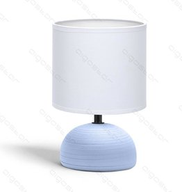 Aigostar Table lamp 03 ceramic E14 with White Lampshade Blue base