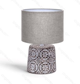 Aigostar Table lamp 06 ceramic E14 with brown lampshade brown base