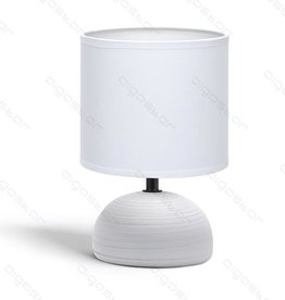 Aigostar Table lamp 03 ceramic E14 with white lampshade gray base
