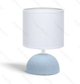 Aigostar Table lamp 02 ceramic E14 with White lampshade Blue base