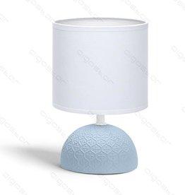 Aigostar Tafellamp 02 keramiek  E14 met Witte lampenkap  Blauwe basis