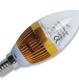 Aigostar LED kaars E14 4W 6000K transparant