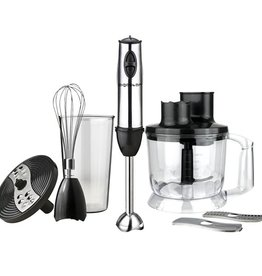 Aigostar Multifunction Hand Blender 800W Black Silver