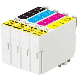 PrintLightDirect Set of 10 T0711 (4) T0712 (2) T0713 (2) T0714 (2) Set of 10: Zwart*4 + [Cyaan + Magenta + Geel]*2 (Epson)