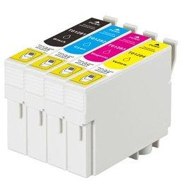 PrintLightDirect Set of 10 T01281 (4) T01282 (2) T01283 (2) T01284 (2) Set of 10: Zwart*4 + [Cyaan + Magenta + Geel]*2 (Epson)