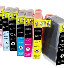PrintLightDirect Set of 10: PG05BK (2) + 08BK (2) + 08C (2) + 08M (2) + 08Y (2) Set of 10: [Pigment black + Black + Cyan + Magenta + Yellow]*2 (Canon)