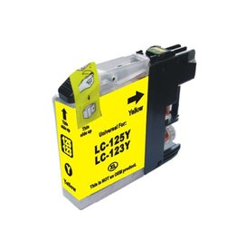PrintLightDirect LC-123 Y Yellow (Brother)