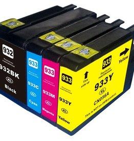 PrintLightDirect 932 XL BK (CN053A)  Zwart (HP)