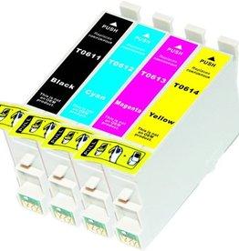 PrintLightDirect Set of 10 T0611(4) T0612(2) T0613 (2) T0614(2) Set of 10: Black*4 + [Cyan + Magenta + Yellow]*2 (Epson)