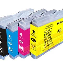 PrintLightDirect Set of 10: LC1000 BK (4) + LC1000 C (2) + LC1000 M(2) + LC1000 Y (2) Set of 10: Black*4 + [Cyan + Magenta + Yellow]*2 (Brother)