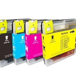 PrintLightDirect Set of 10: LC-980 BK (4) + LC-980 C (2) + LC-980 M(2) + LC-1980 Y (2) Set of 10: Black*4 + [Cyan + Magenta + Yellow]*2 (Brother)