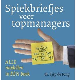 Spiekbriefjes voor topmanagers (in dutch)