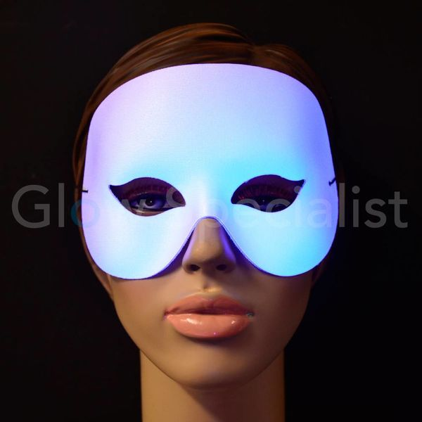 UV/BLACKLIGHT OOGMASKER - COCKTAIL - WIT