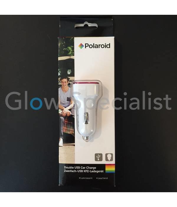 Polaroid LICHTGEVENDE DUBBELE USB-AUTOLADER