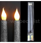 LED GLITTER CANDLES - SET OF 2
