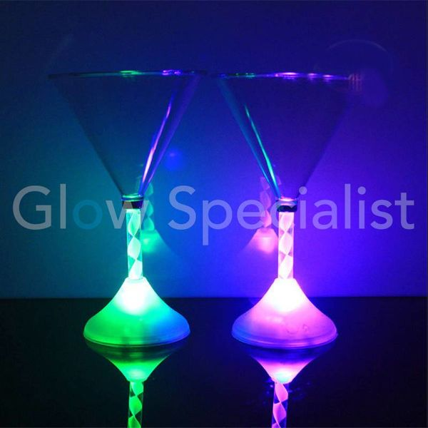LED MARTINI GLASS - COLOR CHANGING