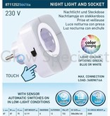 Grundig LED NIGHTLIGHT - COLOR CHANGING - WITH SCREEN AND SENSOR