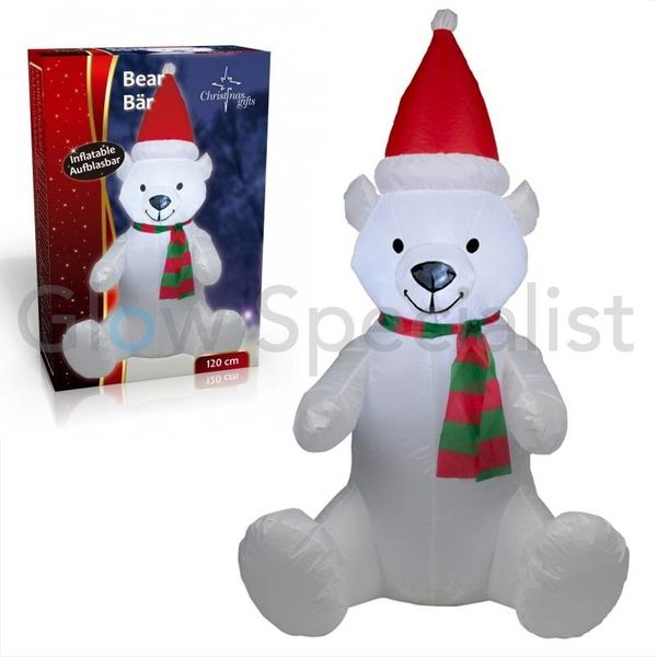 LED INFLATABLE CHRISTMAS BEAR - 120 CM