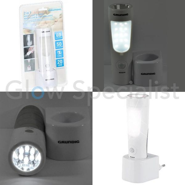 2-in-1 LED NIGHT LIGHT WITH MOTION SENSOR AND FLASHLIGHT - 14 + 6 LED