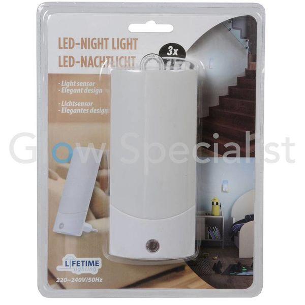 LED NIGHT LIGHT WITH LIGHT SENSOR - 3 LED