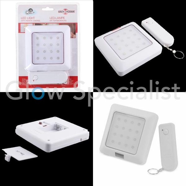 LED NIGHT LIGHT SENSOR AND REMOTE CONTROL - 16 LED