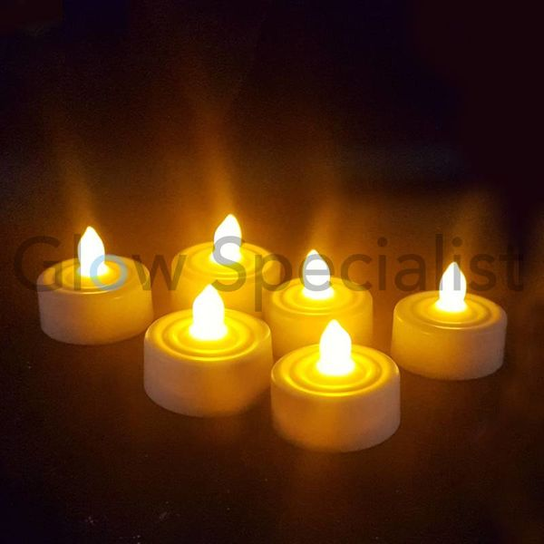 LED KNIPPERENDE THEELICHTJES - 6 STUKS