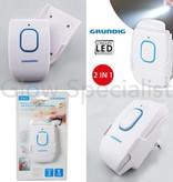 Grundig 2-in-1 LED STEKKER NACHTLAMP EN ZAKLAMP - 5 LED