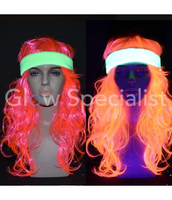 - Glow Specialist UV NEON HOOFDBAND + 2 POLSBANDJES - 3-DELIGE SET