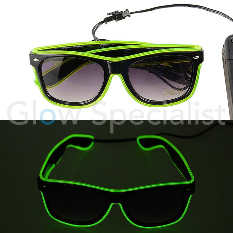 cf4f00caab0d45 LED EL-WIRE BRIL - koop je bij Glow Specialist - Glow Specialist