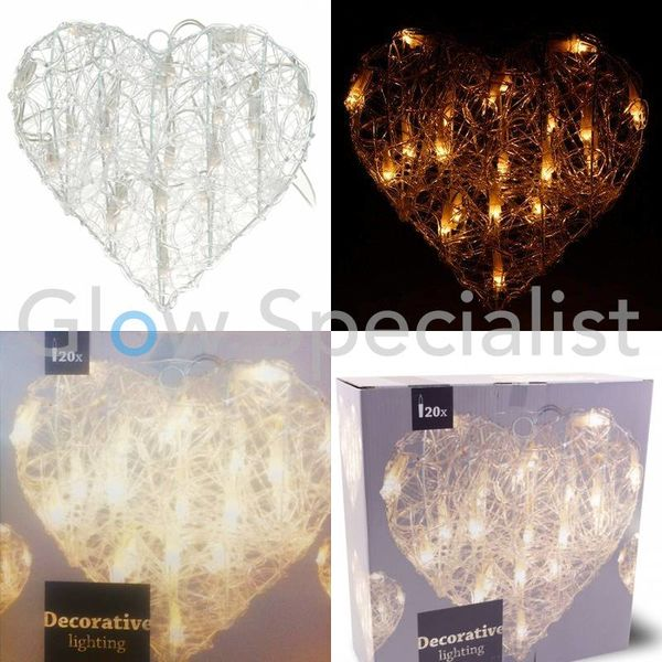 HEART SHAPED LIGHTING - 30 CM - 20 LED