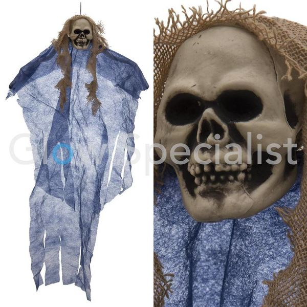 HALLOWEEN DECORATION GHOST - BLUE - 60CM