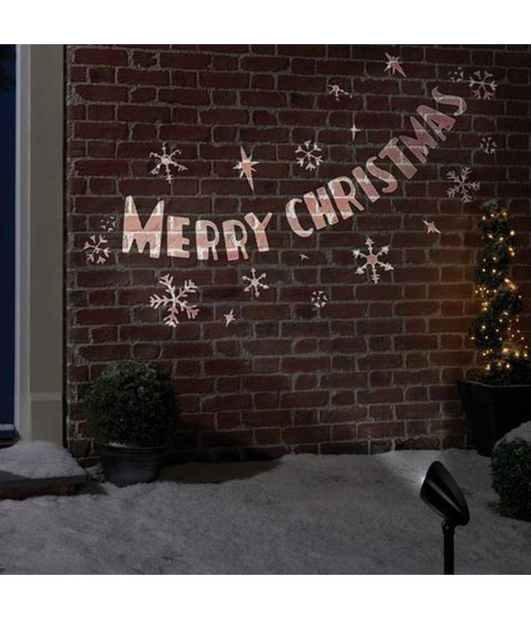 LED PROJECTOR - MERRY CHRISTMAS - ROTATING